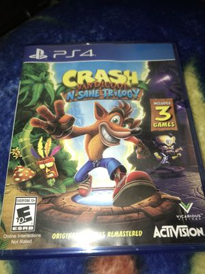 Crash Bandicoot: N-Sane Trilogy. PS4. 3 GAMES IN ONE! for Sale in Tacoma, WA
