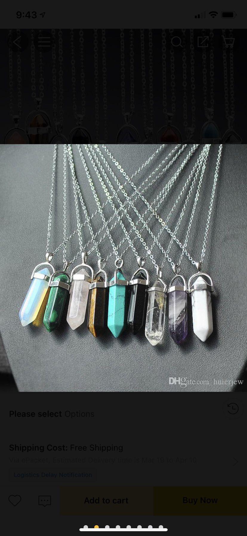 Healing chakra crystals necklaces