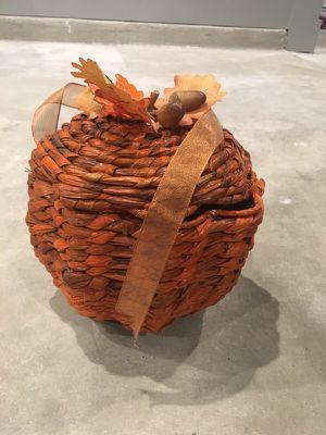 Fall Decoration- Pumpkin Basket for Sale in Austin, TX