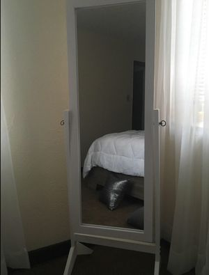 Tall White wooden Mirror for Sale in Silver Spring, MD