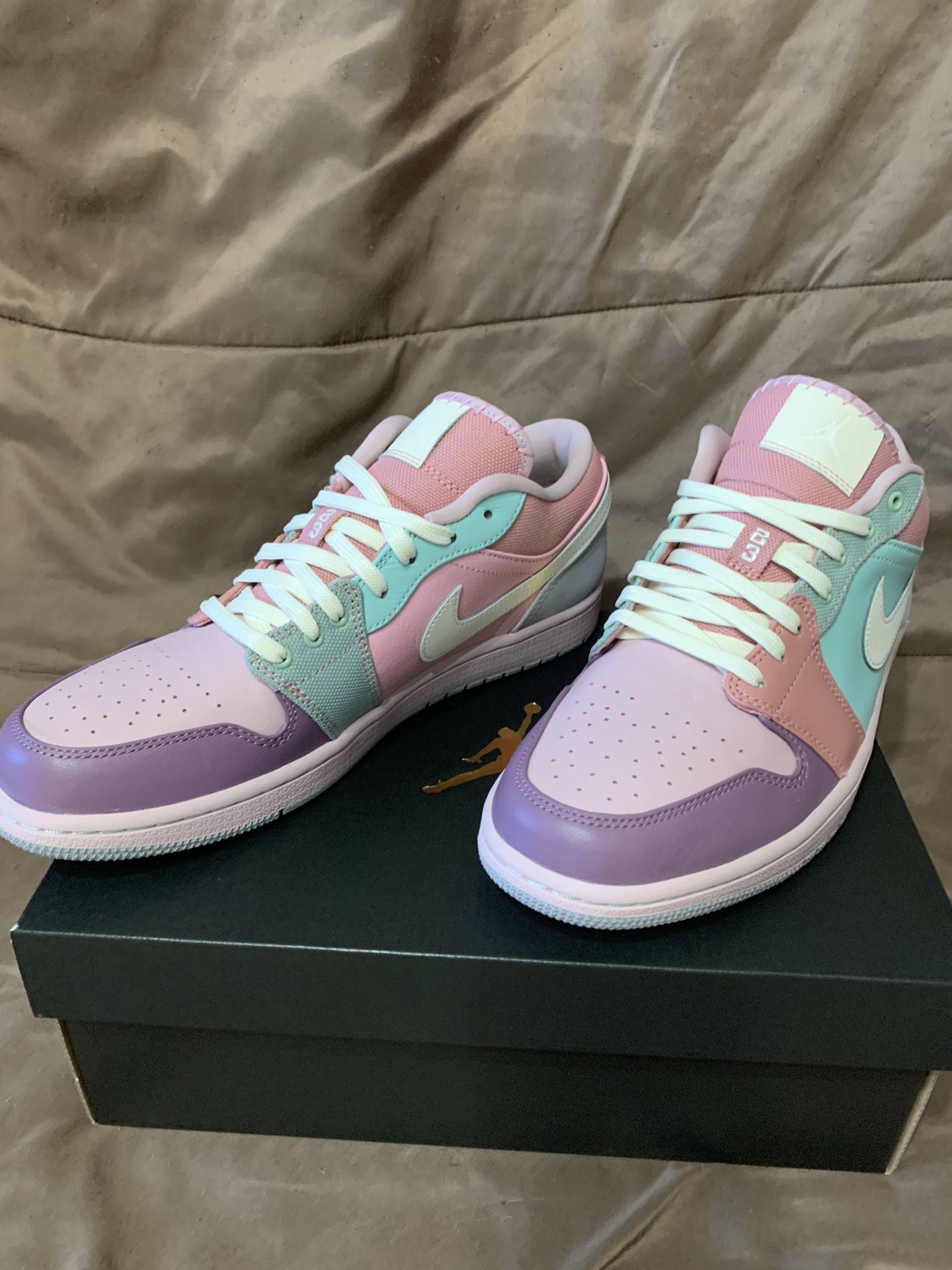 """Air Jordan 1 Low """"Easter Pastel"""" Size 10"""