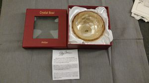 New Oleg Cassini Crystal Amber Bowl for Sale in OH, US
