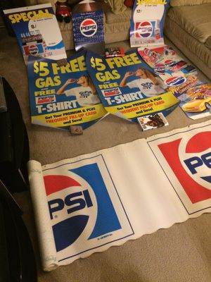 New Vintage Pepsi Sign Lot, Old Stock for Sale in Dublin, OH