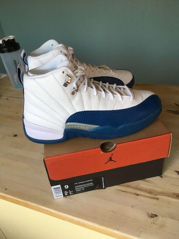 db9906ff368003 Nike Air Jordan Retro 12 Size 9 French Blue Black Cement Yeezy Boost ...