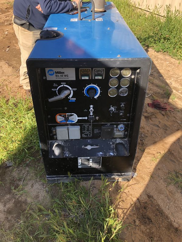 Miller Big 40 500 amp DC cc/cv 15K 3 phase generator welder for Sale in  Perris, CA - OfferUp
