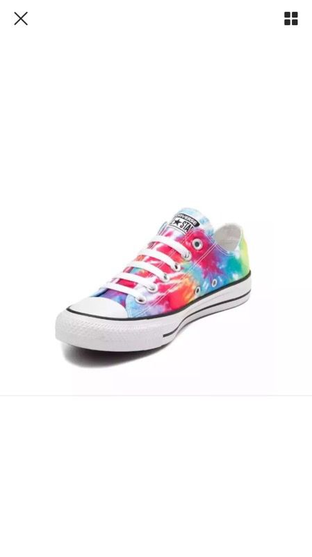 7d72971e0442 Rainbow tie dye Converse All Star Sneakers Girls Shoes SIZE 3 (very very  gently used!)