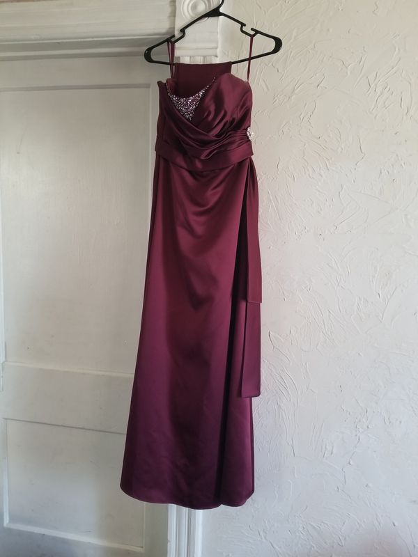 Bridesmaid Prom Homecoming Or Formal Dress Wine Color For Sale