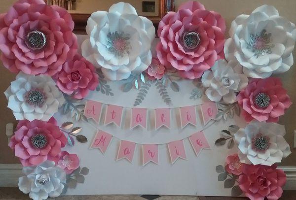 Handmade Paper Flowers Backdrop For Sale In Goodyear Az Offerup