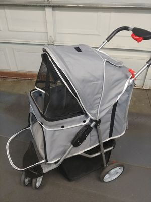 Doggie stroller for med to small dogs it's like almost new for Sale in San Bernardino, CA