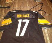 Like new ALL stitched Pittsburgh Steelers Mike Wallace jersey youth XL 16-18 excellent condition for Sale in PA, US