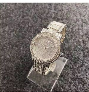 Mk Michael Kors crystal silver Tone men women unisex design watch for Sale in Silver Spring, MD