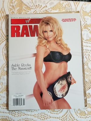 Photo Sable WWF WWE Lot With Autograph, 1999 Raw Magazine, 8x10 Glossy, and Mousepad!