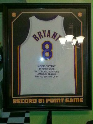 outlet store cf948 17d15 Kobe Bryant signed upper deck limited edition to only 81 jersey second  highest point score in one game besides wilt chamberlain 100 point game  13/81 ...