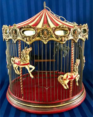Large Unique Carousel Hanging Birdcage for Sale in Crofton, MD