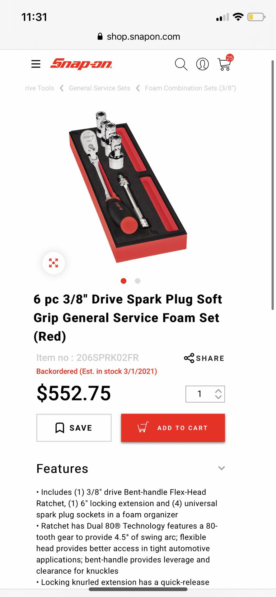 Snap On Spark Plug Set,  New !!!