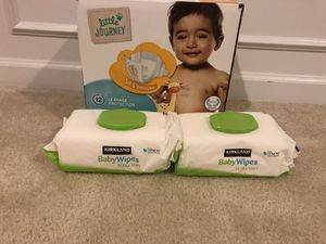 70 diapers size 5 ( unopened box) with 2 boxes of baby wipes for Sale in Ashburn, VA