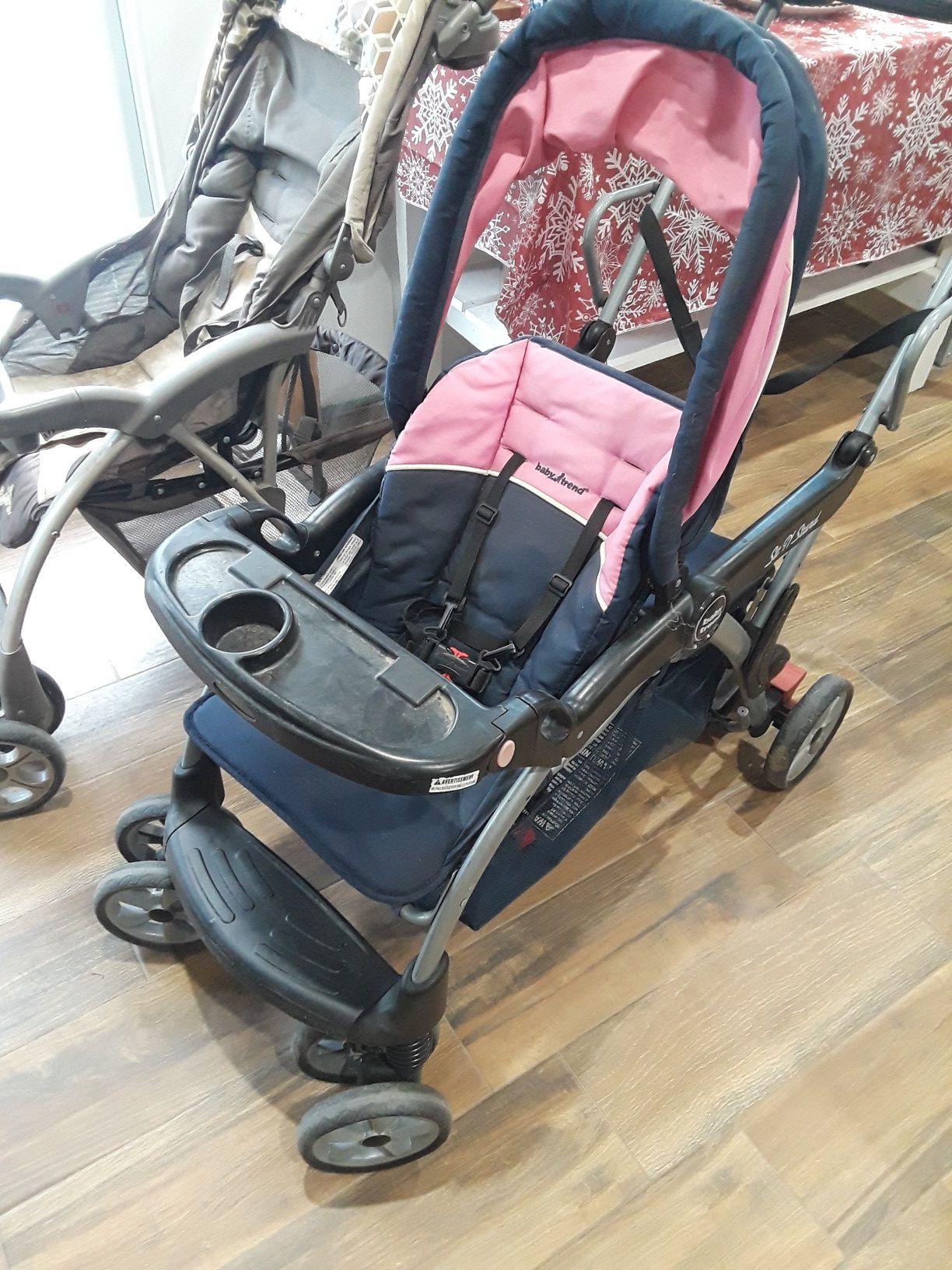 3 strollers