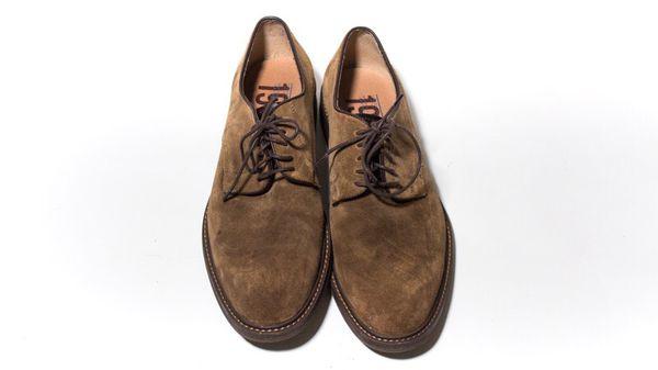 d887697c28f Nordstrom 1901 Byron Buck size 12 Mushroom Suede men s dress shoe ...