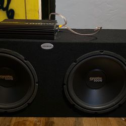 Two 12s Super Sound Box With The Coustic 1000w Monoblock Amplifier Thumbnail