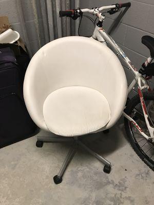 Ikea Desk Swivel Chair White - SKRUVSTA for Sale in Miami, FL