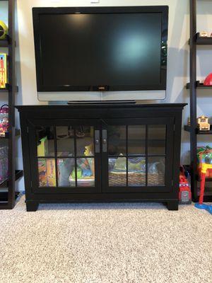 Black TV Console for Sale in Arlington, VA
