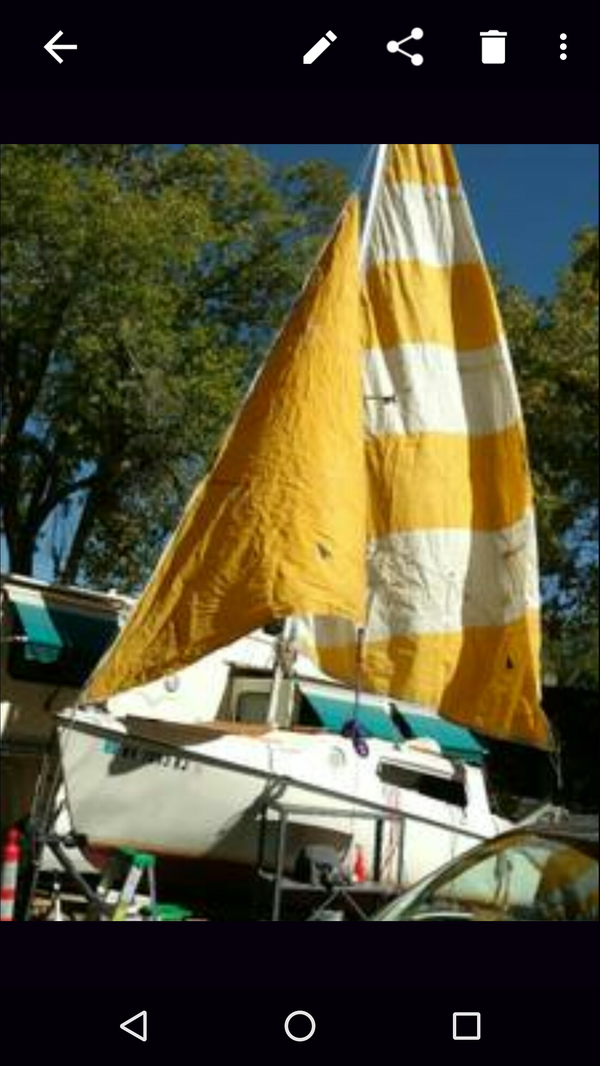 $1500 Southwind 21' swing Keel sailboat  Can barter for a parking spot  somewhere at Tahoe excetera  for Sale in Reno, NV - OfferUp