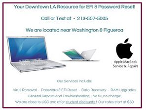 EFI and Password Unlock for Computers for Sale in Los Angeles, CA