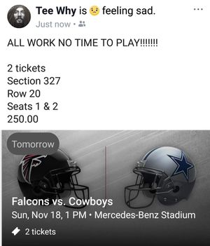 Falcons vs Cowboys for Sale in College Park, GA
