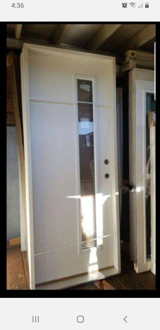 Exterior Door Fiberglass 32x80 Left