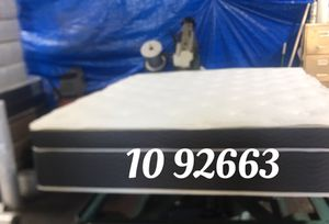 """Photo 14"""" thick luxury 1 sided pillow top mattress. Price includes tax & local delivery. Cash only. Twin Mattress only-$199 Mattress & Box spring, or b"""