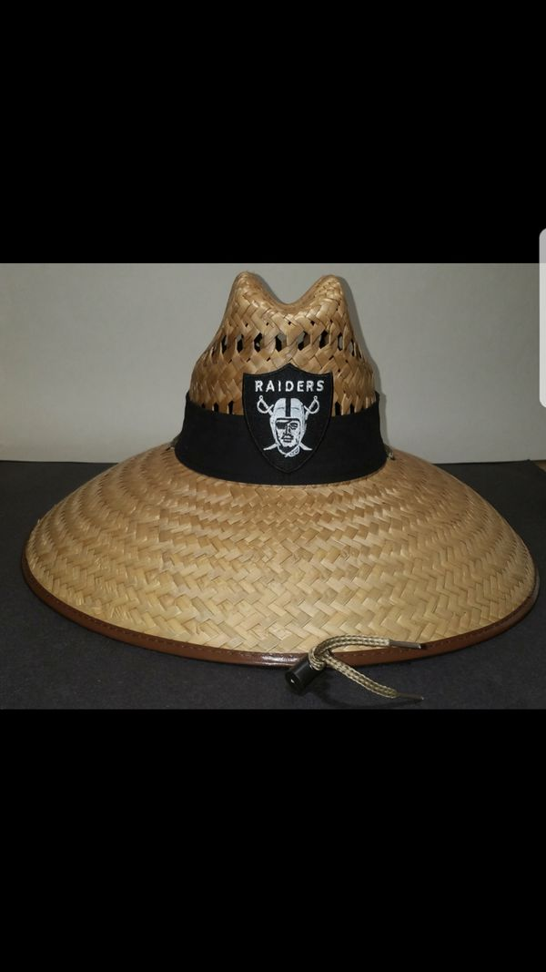 Raiders straw hats . All nfl teams available for Sale in Ontario c3c3e3ff6a51
