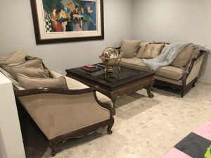 Custom Living Room Set - Two Designer Plush Couches & Coffee Table for Sale in Hollywood, FL