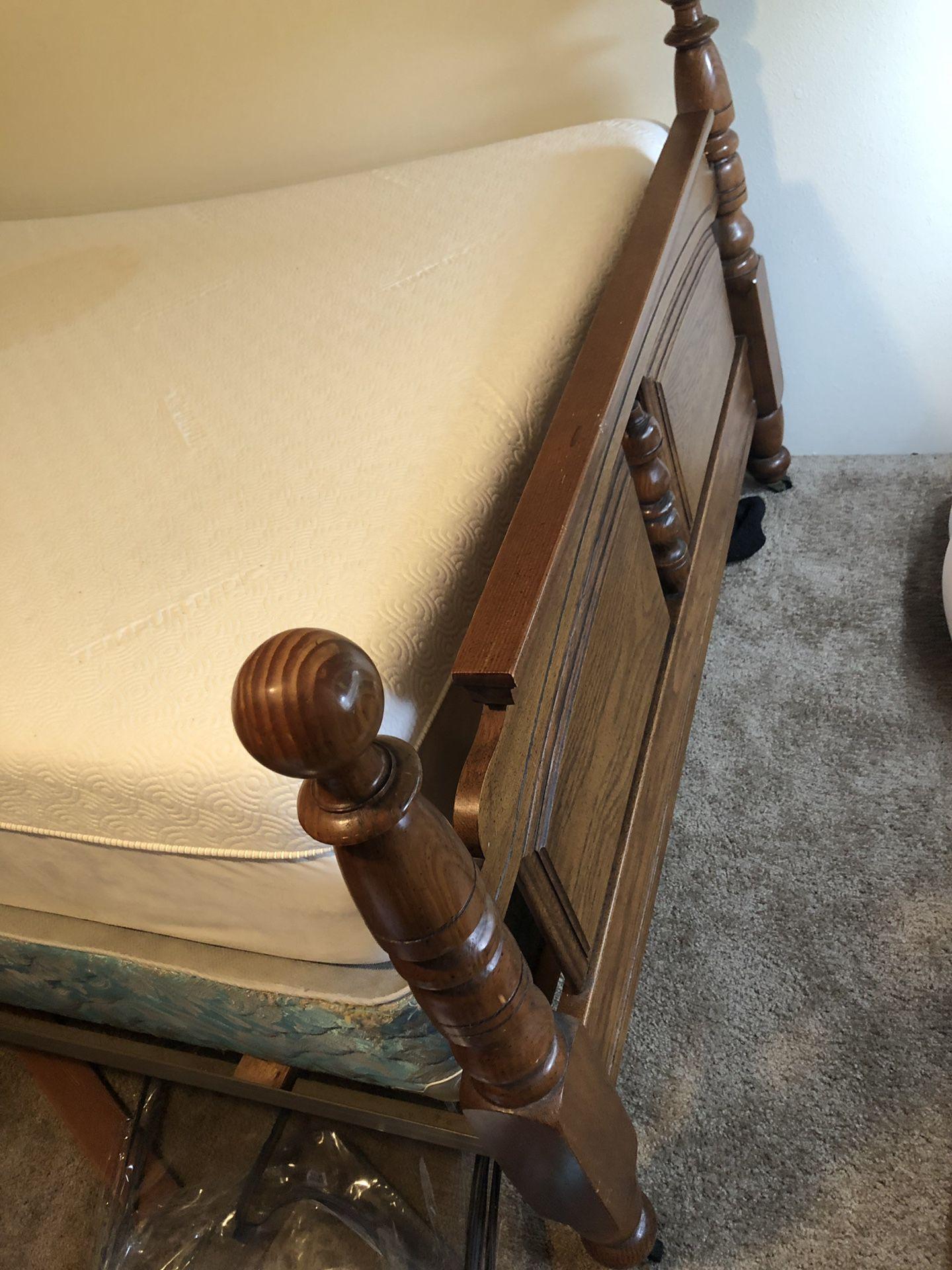 Full size bed frame.