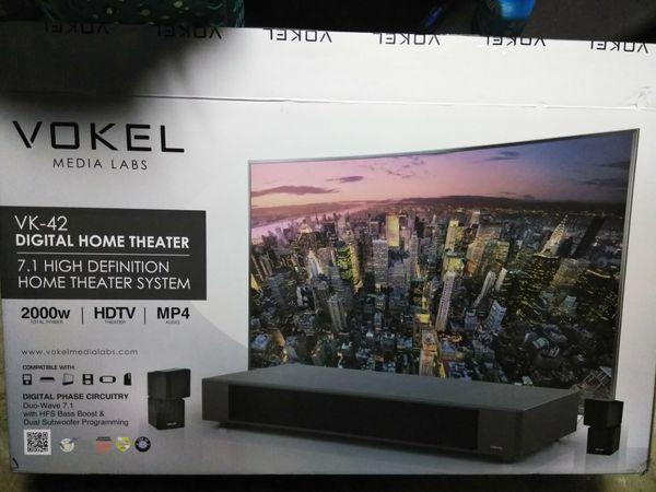 Vokel Media Labs VK-42 Digital Home Theater System 7 1 High Definition for  Sale in Oceanside, CA - OfferUp