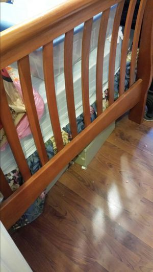 Wood twin bed frame for Sale in Midlothian, VA