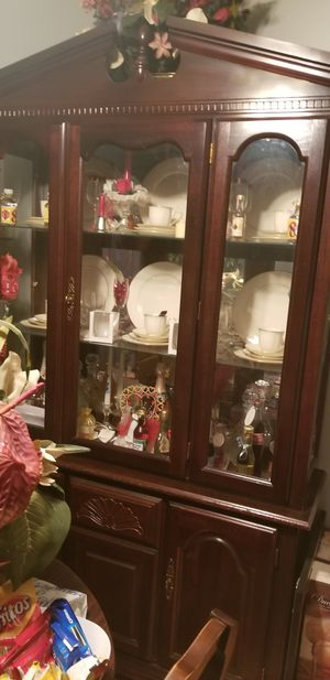 Cherry wood Dining room tables with 6 chairs and China Cabinet for Sale in Fort Washington, MD