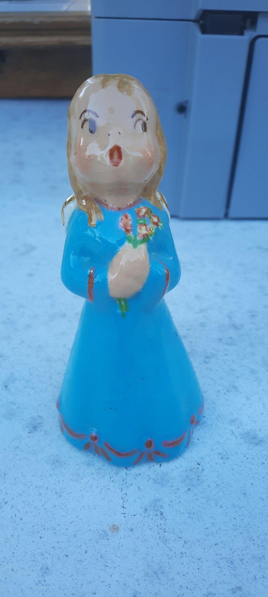 Vintage Porcelain Figure Of A Lil Girl Angel Singing