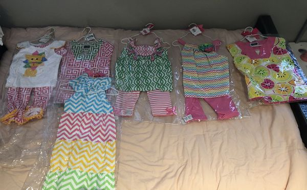 b52c57aa4 6 Brand New Outfits with Hangers Mud Pie Girls Clothing 12-18 months. Pompano  Beach ...