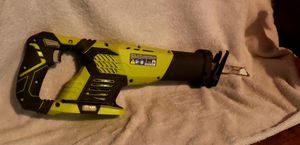 Ryobi finishing nail gun, Reciprocating saw and battery charger for Sale in Sacramento, CA