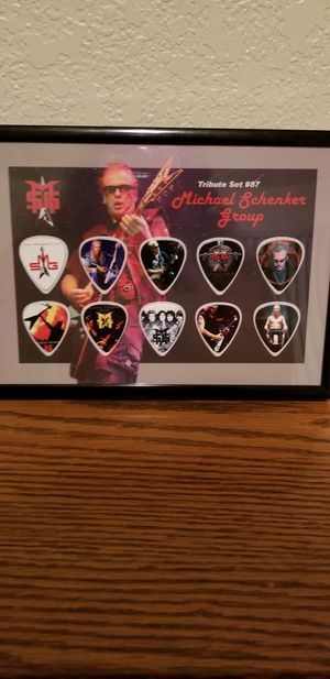Vintage Framed Guitar Pick Collection By Michael Schenker Group for Sale in Lacey, WA