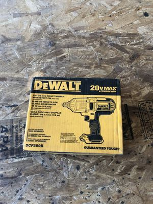 Dewalt 20 volt 1/2 impact wrench tool only new still in box for Sale in Martinsburg, WV