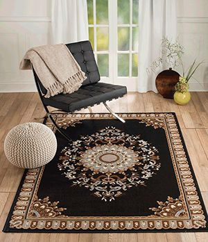 Brand new area rug size 8x11 nice black carpet for Sale in Burke, VA