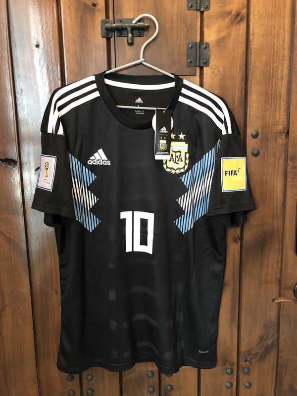 Messi Argentina away with World Cup patches 2018 for Sale in Plano ... 8f82bde91