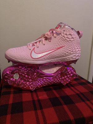 Photo Nike Mike Trout Zoom 5 Baseball Cleats AV4493-604 Size 13 Pink - Flowers