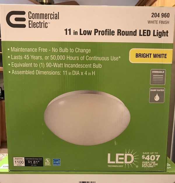 "Commercial Electric LED 11"" low profile Round light for Sale in Bedford  Park, IL - OfferUp"