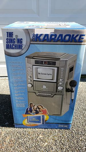 Photo Brand New Karaoke Machine By The Singing Machine. Model STVG-500