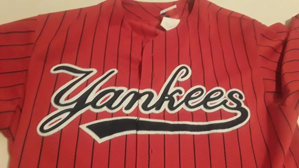 half off c26f4 9b517 Red New York Yankees MLB jersey for Sale in Lake Worth, FL - OfferUp