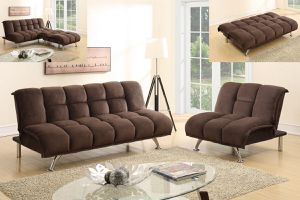 ADJUSTABLE SOFA NAD CHAIR CHOCOLATE PADDED SUECE for Sale in Hialeah, FL