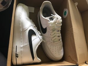 Photo Black and white Air Force ones $60