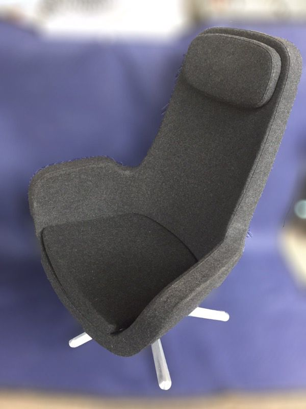 ikea charcoal grey karlstad swivel chair for sale in portland or
